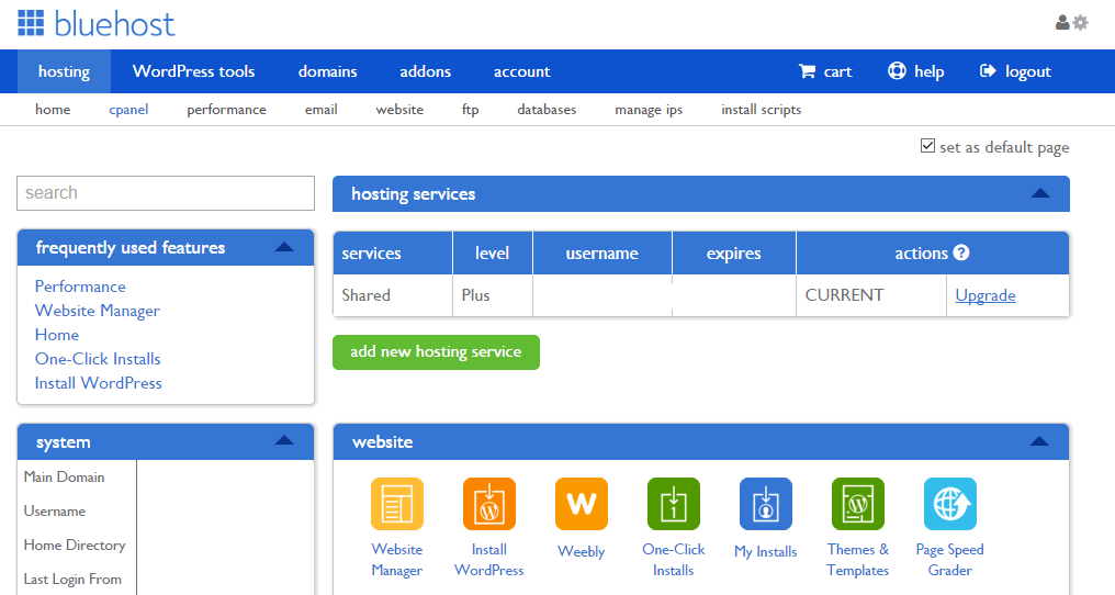 BlueHost Cpanel Review