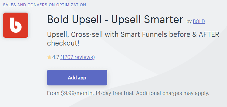 Bold Upsell on Shopify