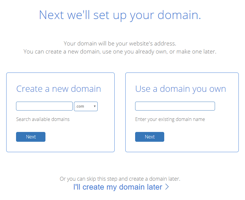 blog typing domain name