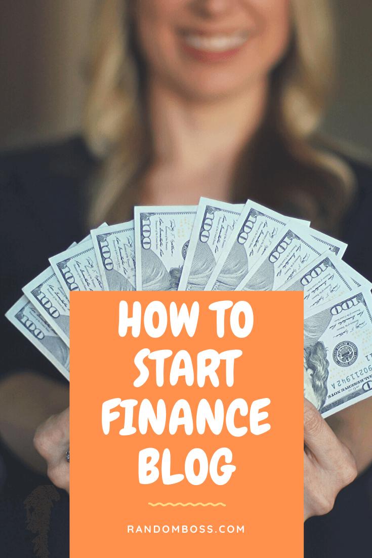 How to Start a Finance Blog