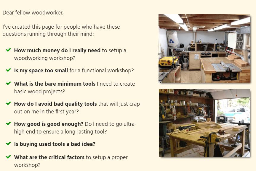 woodwork shop review