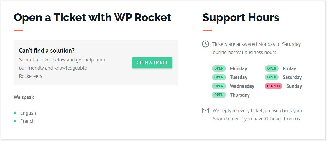 wprocket support