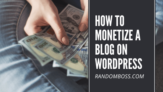 How to Monetize a Blog on WordPress featured image